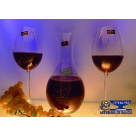decantador y copas bohemia