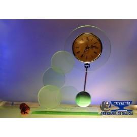 reloj cristal circulos