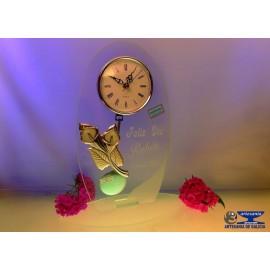 reloj cristal con plata