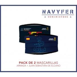 Pack 2 mascarillas ARMADA + JUAN SEBASTIAN DE ELCANO