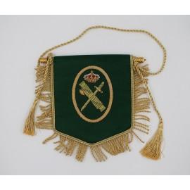 Banderína raso Guardia Civil 12x14cm
