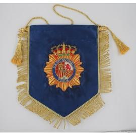 Banderín raso Policía Nacional 17x22cm