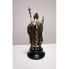 Juan Pablo II figura de bronce macizo