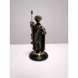 Santiago figura de bronce