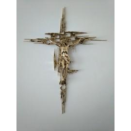 Cristo grande figura de bronce